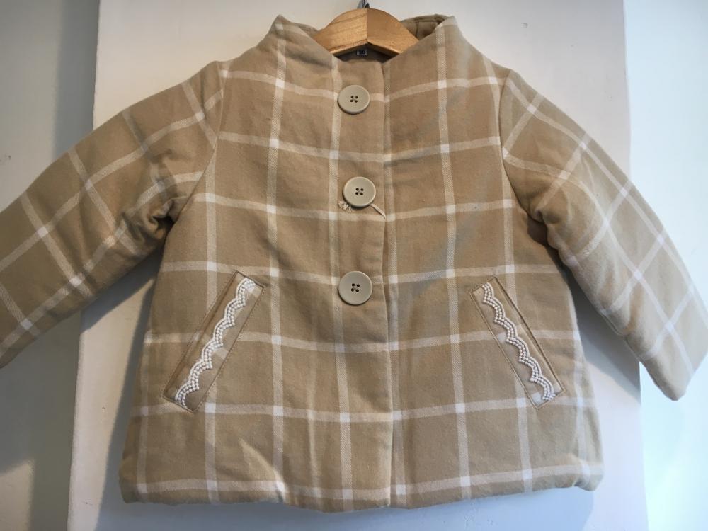 セラフ                    中綿入りジャケット(S501016)         (size 100・110・120・140㎝)      ¥3.900+税