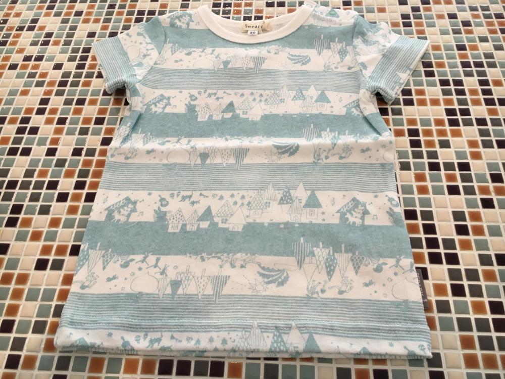 セラフ                    プリントボーダーTシャツ(S207146)      (size 120㎝)           ¥1.900+税