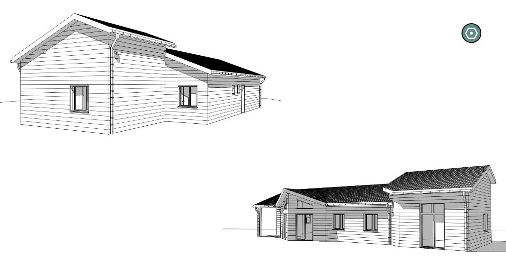 Extension ossature bois.