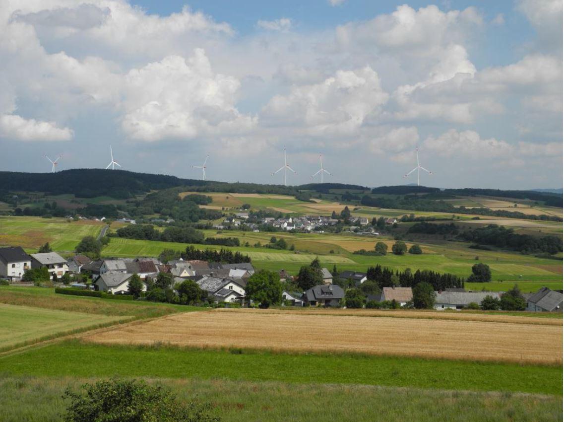 Blick vom Aussichtsturm in Sassen
