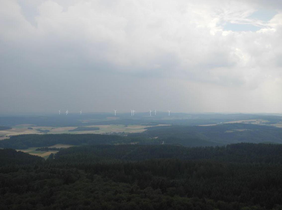 Blick vom Kaiser Wilhelm Turm auf der Hohen Acht