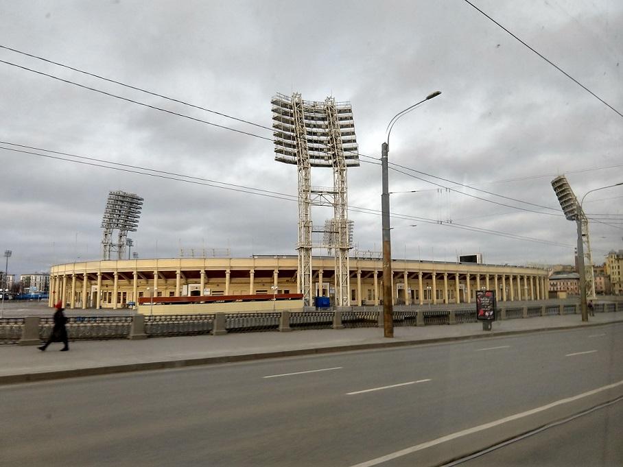 Petrowski Stadion in Sankt Petersburg - aktuelle Heimat von FK Tosno. Bis 2017 von Zenit St. Petersburg