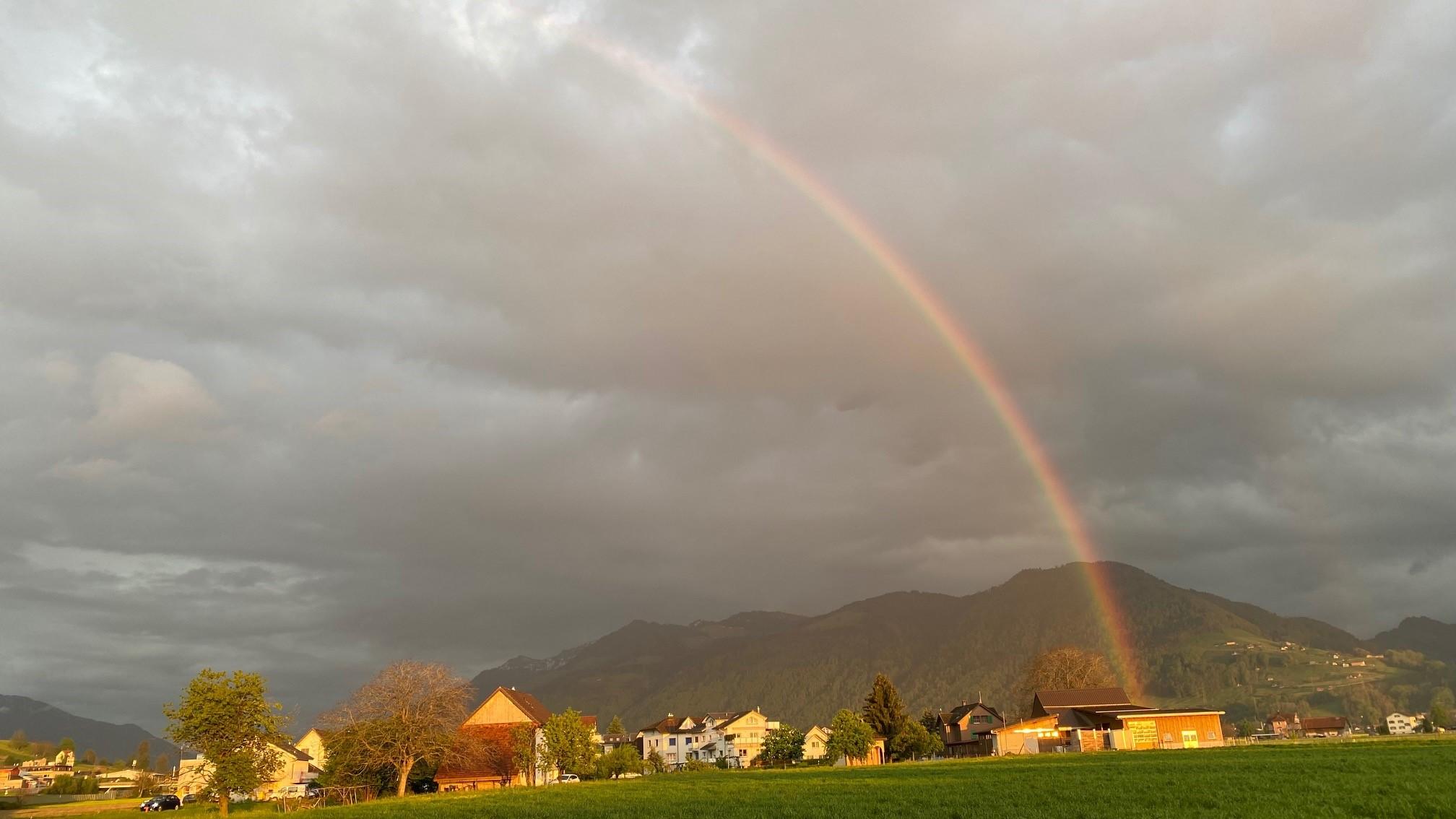 Regen + Sonnenschein = Regenbogen