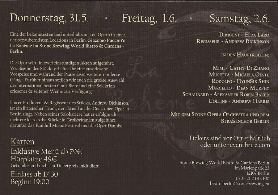 Oper La Boheme Webseite Des Straßenchor Berlin