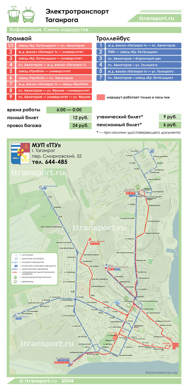 трамваи и троллейбусы Таганрога
