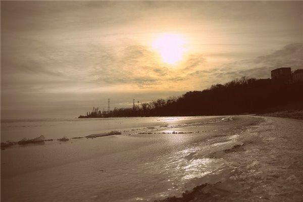 Таганрог лед на море