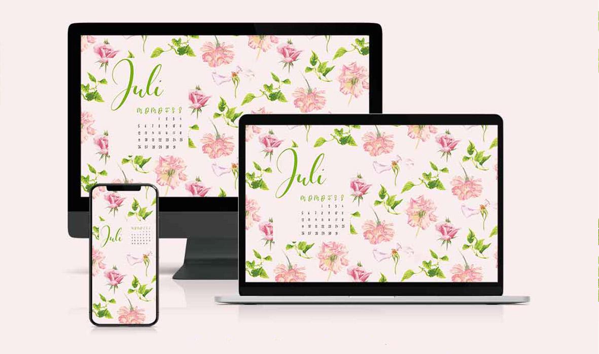 Freebie Kalender Juli
