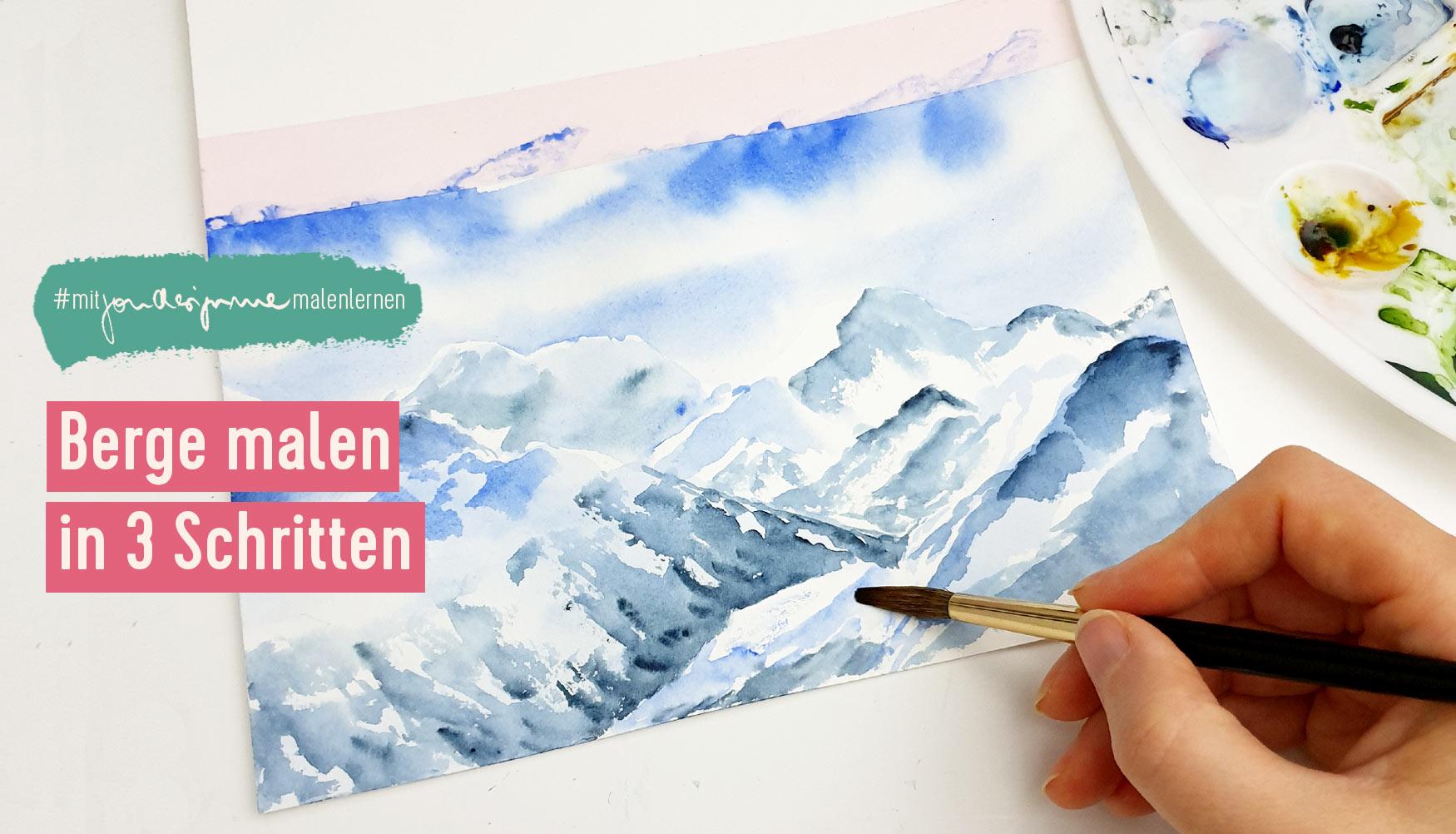 Berglandschaft in 3 Schritten