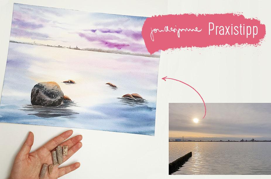 Vom Foto zum Aquarell - 3 praktische Tipps