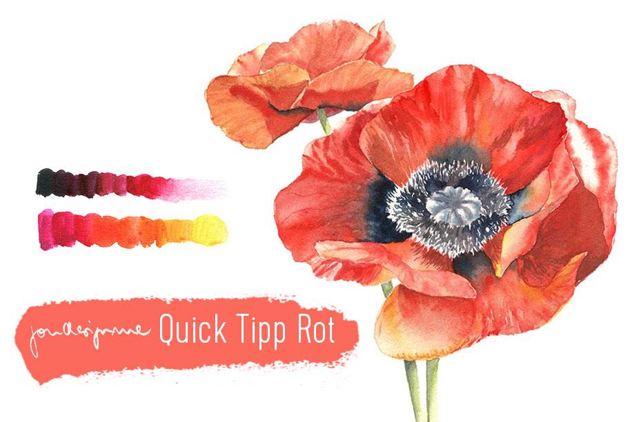 Quick Tipp Farben: Rot