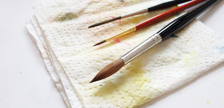 pinsel pflegen, aquarellpinsel, Aqaurell, Tipps, malen lernen, so pflegst du deine Pinsel, winsor newton sabel brush
