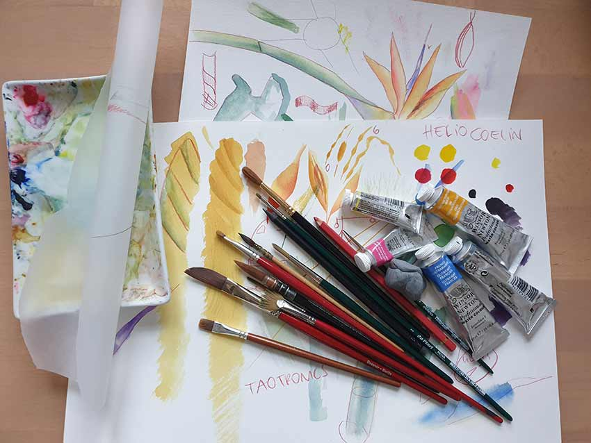 aquarell malen lernen, onlinekurs für fortgeschrittene, online malen lernen, blumenaquarell, florale aquarelle, malkurs, mityoudesignmemalenlernen