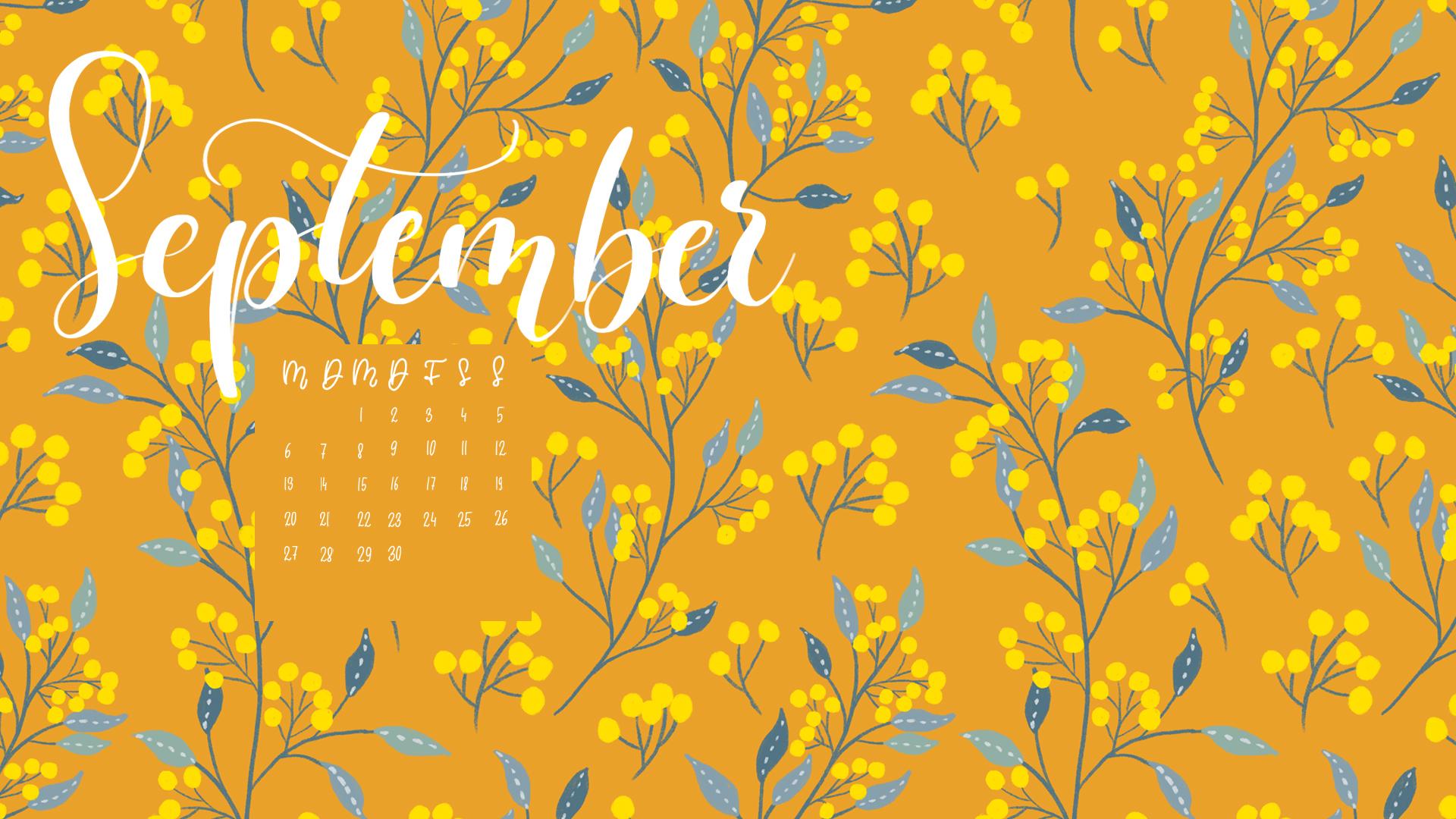 Freebie Kalender September
