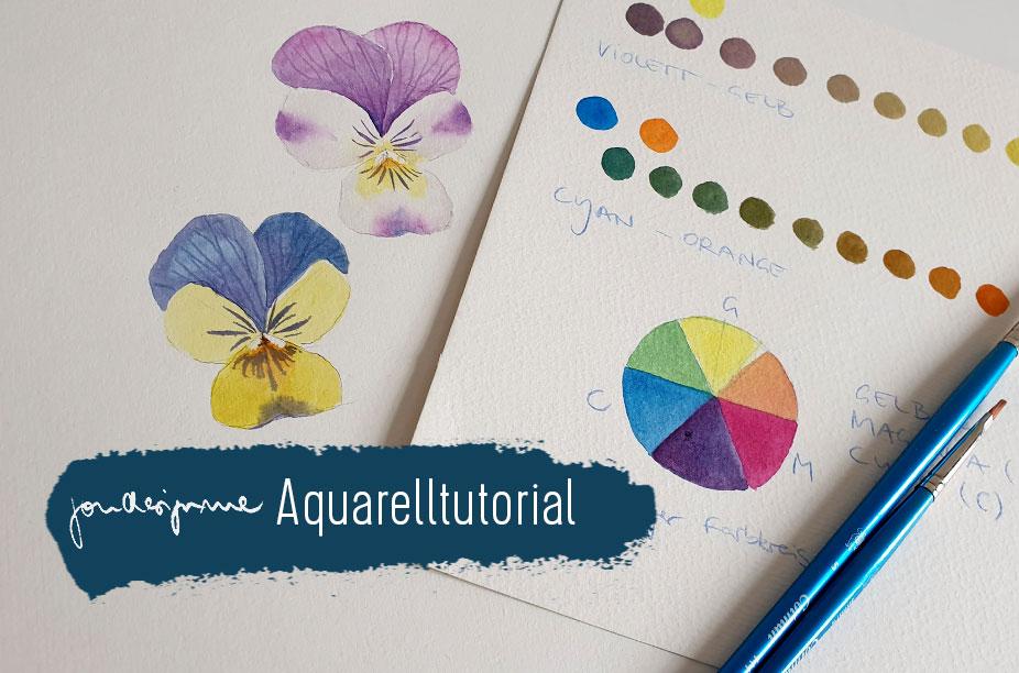 Aquarellanleitung Stiefmütterchen