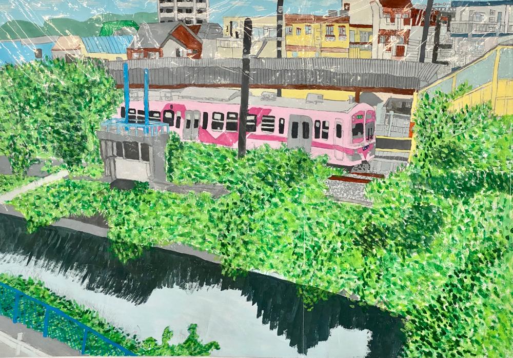 砂田武琉さんの絵画作品。令和2年度、松戸市観光協会会長賞を受賞されました。