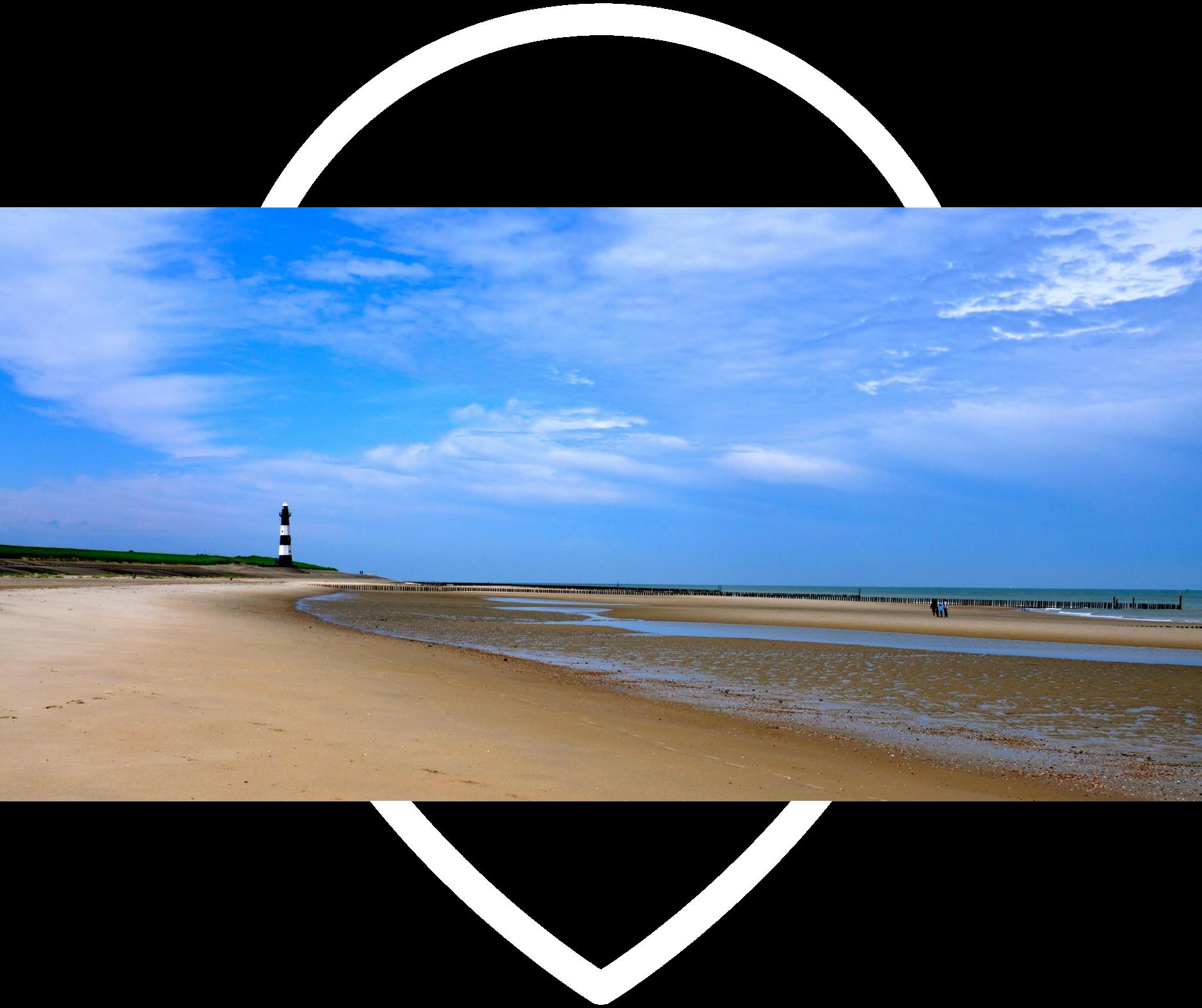 Strand und Leuchtturm Breskens