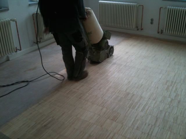 to sand parquet floors