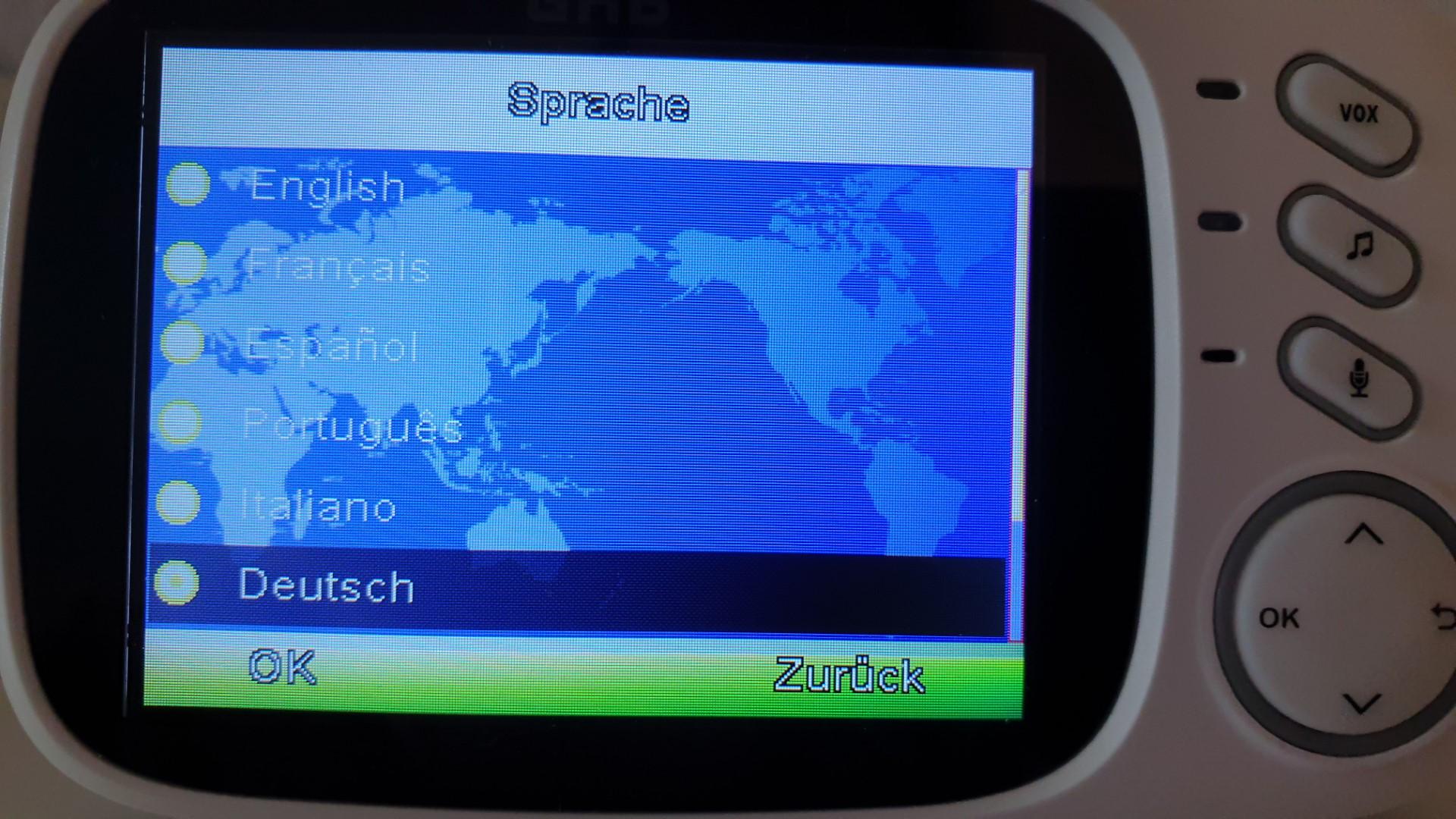 GHB Babyphone - Sprachen 1