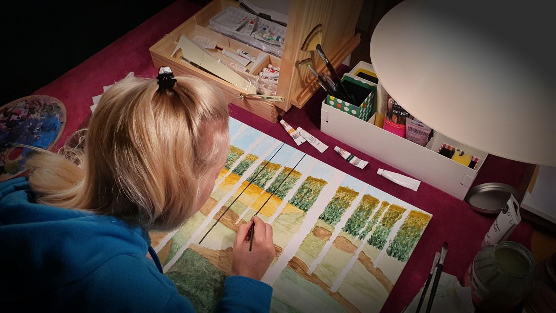 Acrylmalerei - die Kunst zu entspannen - Mama malt