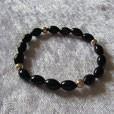 Obsidian schwarz Lamellen Gold Mahagoni Schneeflocken Dalmatiner  Armbänder