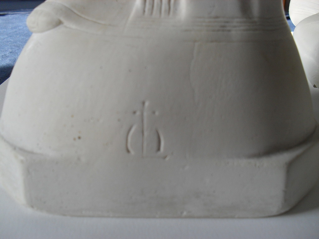 inscriptie 1 (voetstuk links) | tijdens restauratie