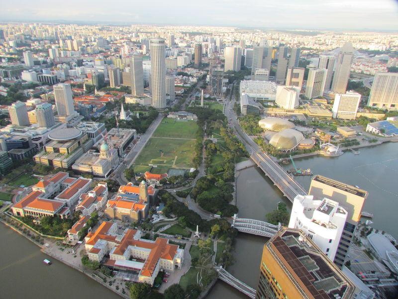 Singapore River von oben