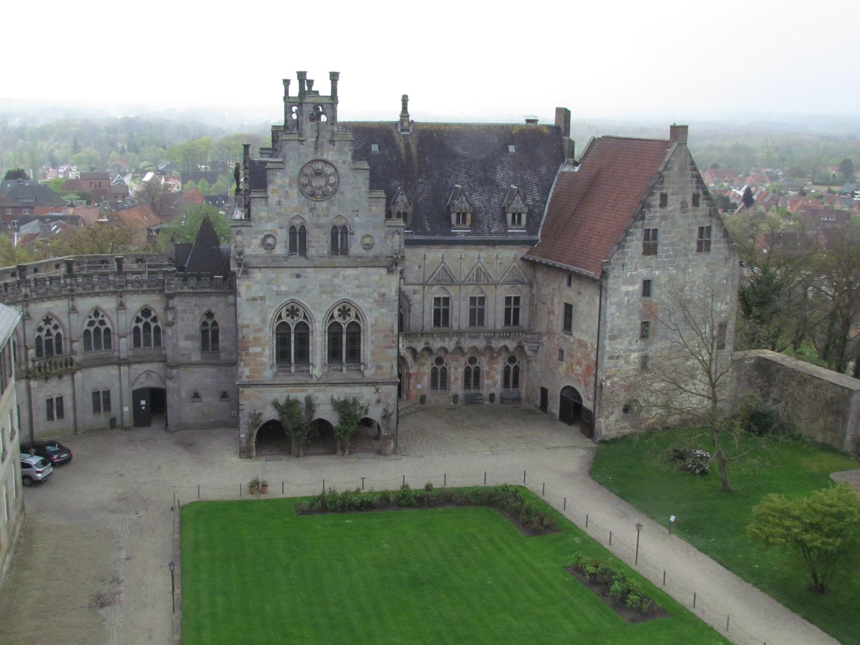 die Burg von oben