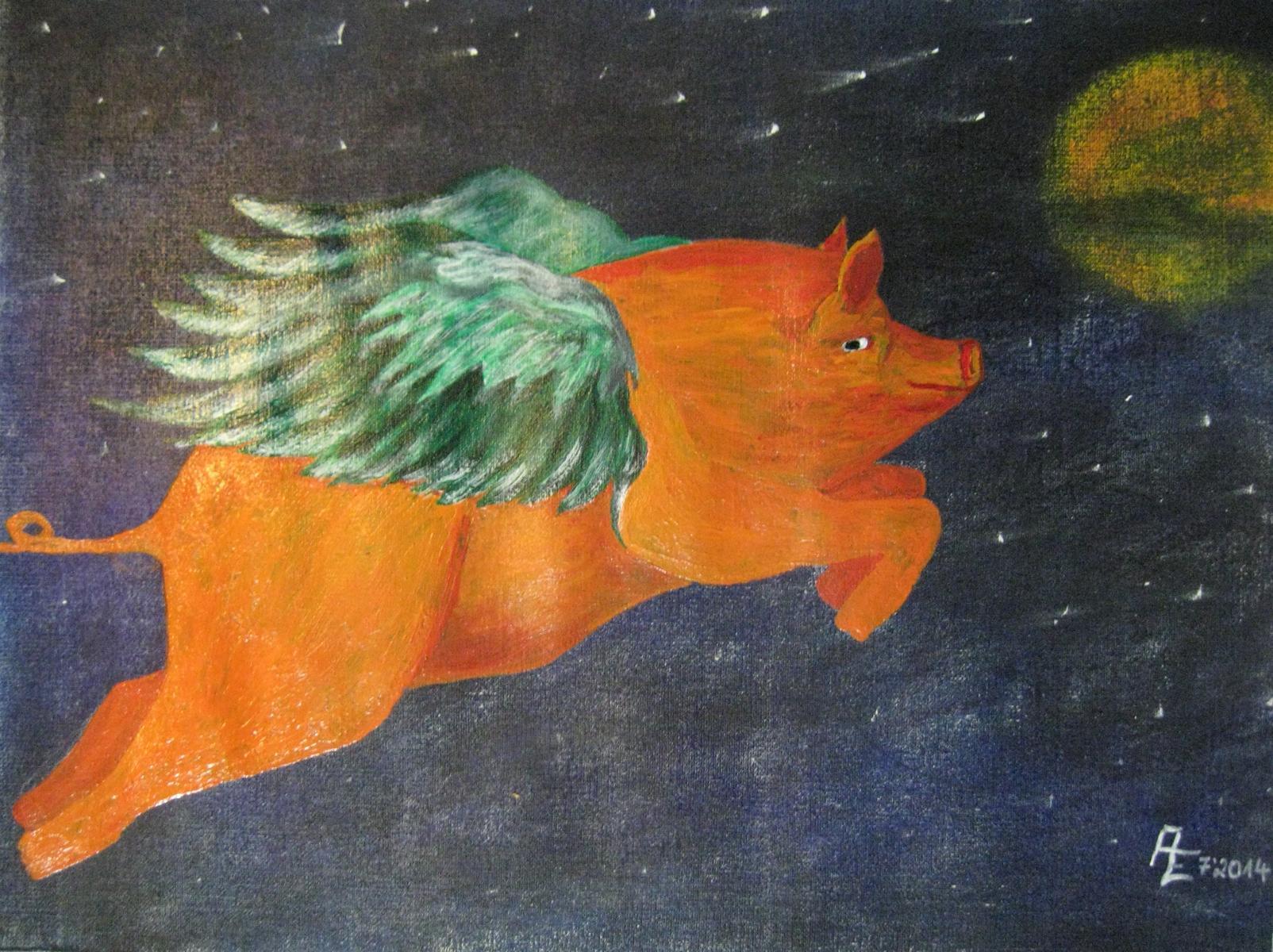 2014-07 Alles Glück dieser Welt - Acryl&Pastell auf Ölmalpapier 40x30