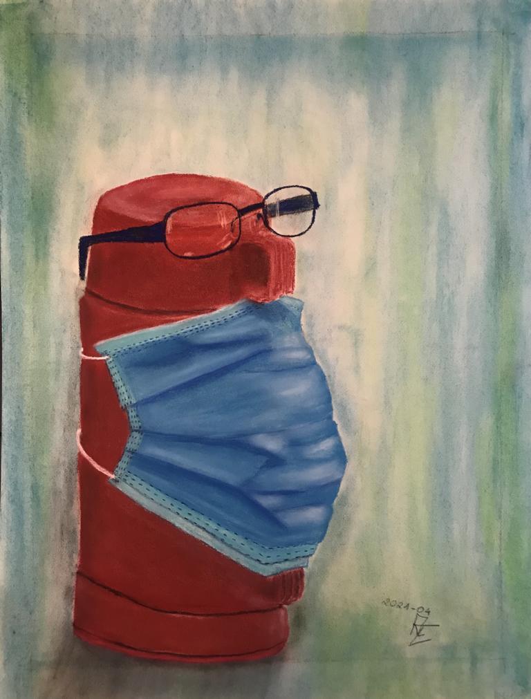 2021-04 Luft nach oben - Pastell auf Künstlerpapier 65x50