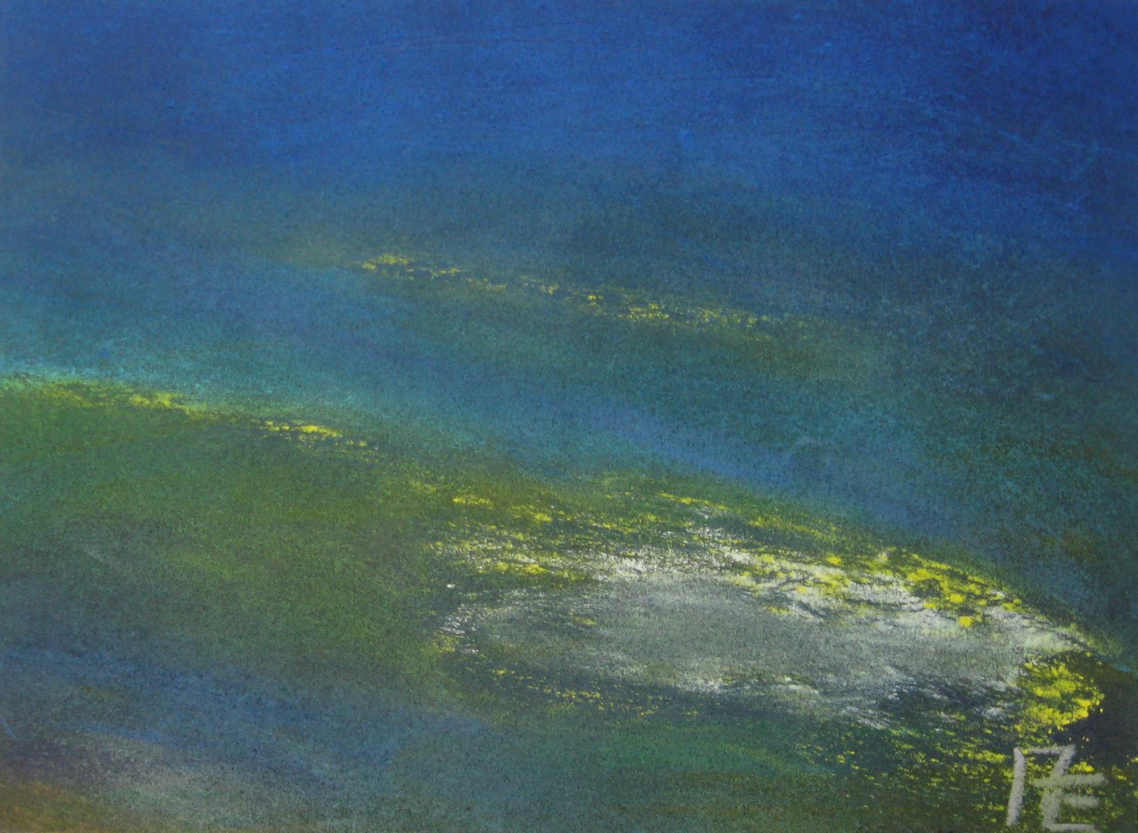 2011-04 Inselwelten - Pastellkreide auf Pastellpapier farbig A4