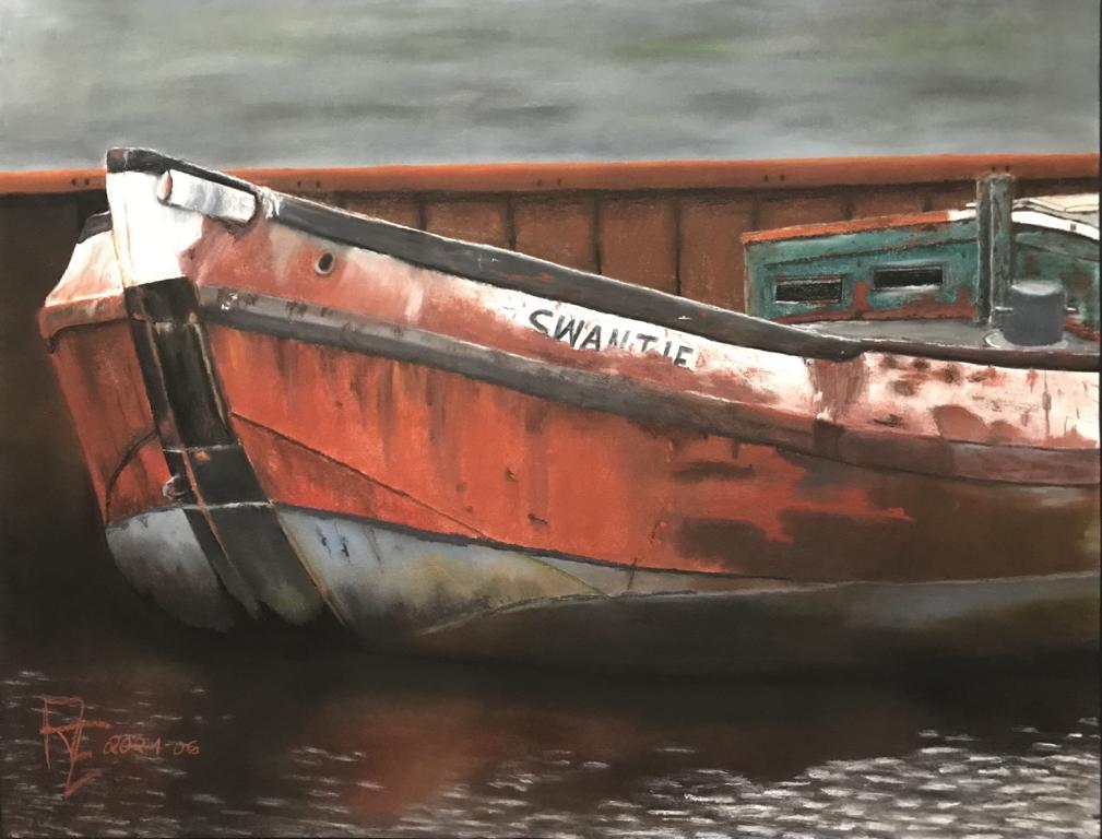 2021-06 Swantje-Abgewrackt - Pastell auf Künstlerpapier