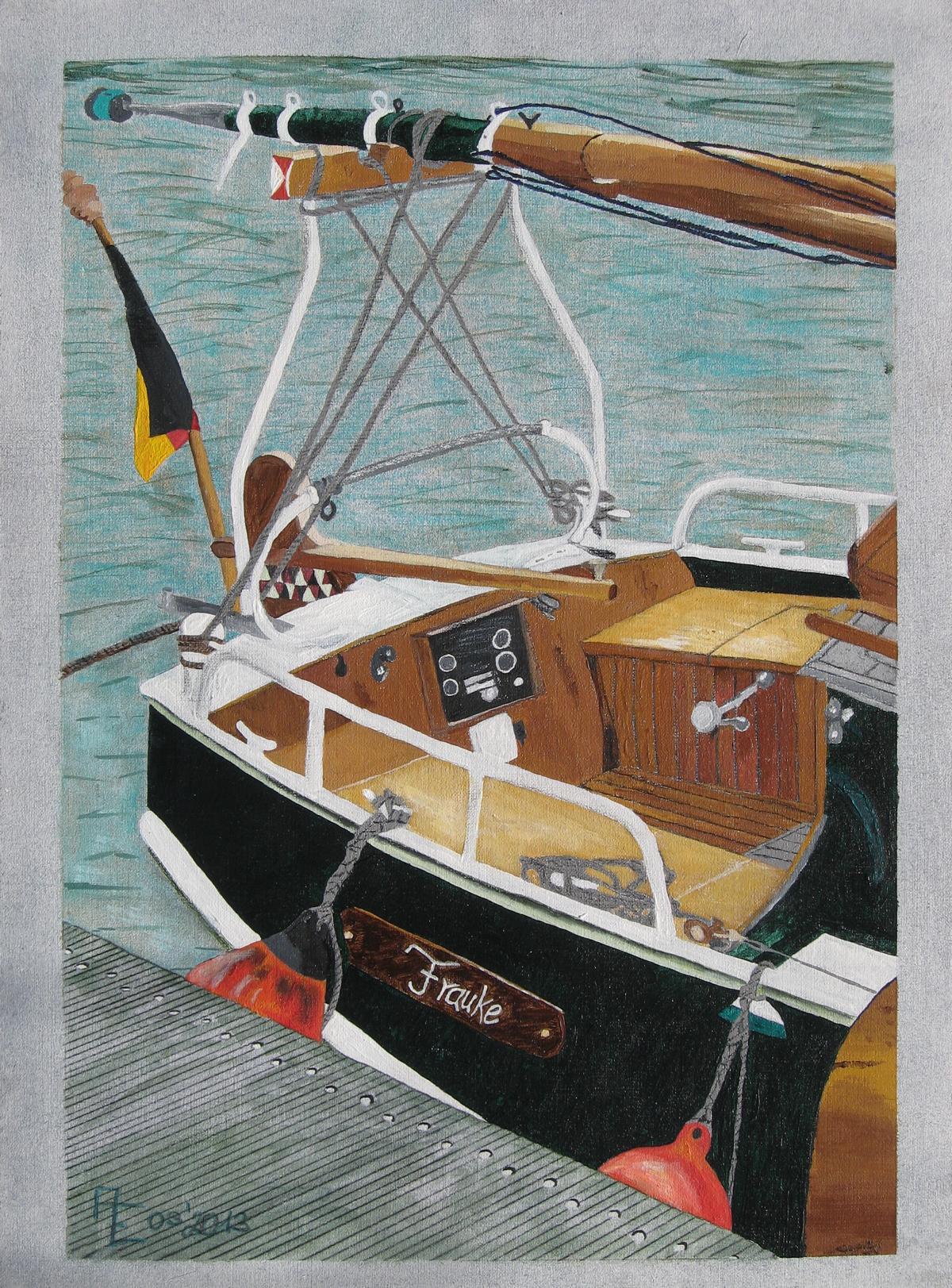 2013-03 Frauke - Mischtechnik auf Ölmalpapier 42x56