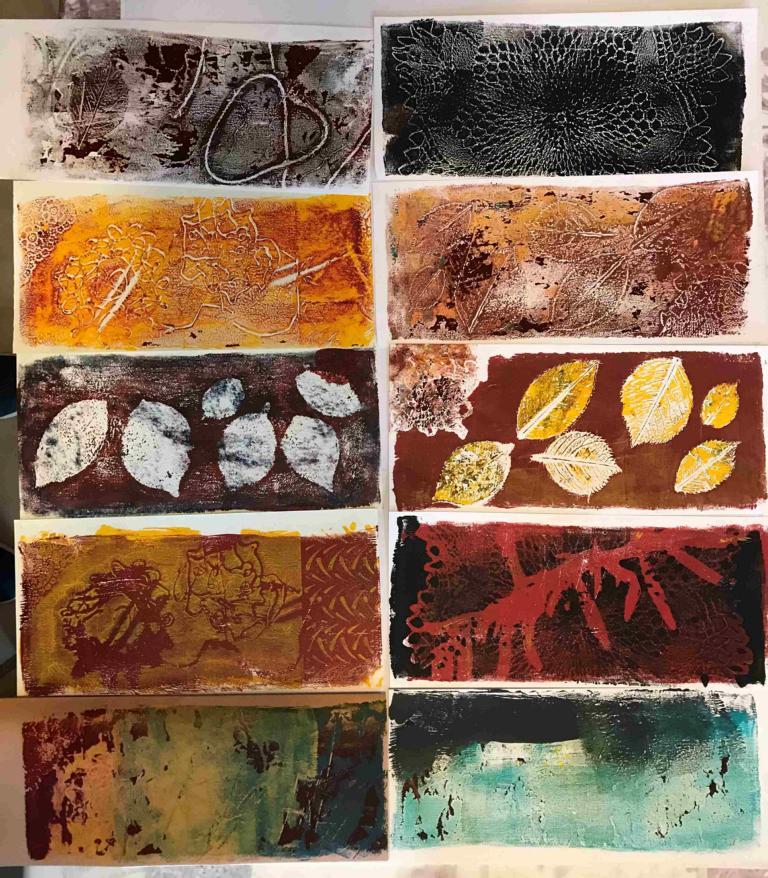 2020-06 Zehn Geldrucke - Acryl auf Papier 12x16