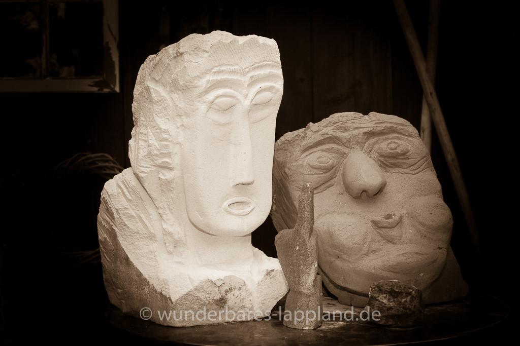 Skulpturen von Günther Sattler, Birkenhof Plaue