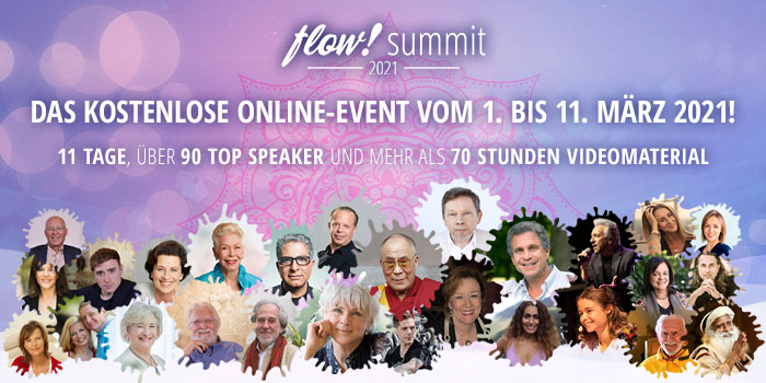flow ! summit 2021 - kostenloses Online-Event im Bereich persönliche und spirituelle Weiterentwicklung und Selbstheilung