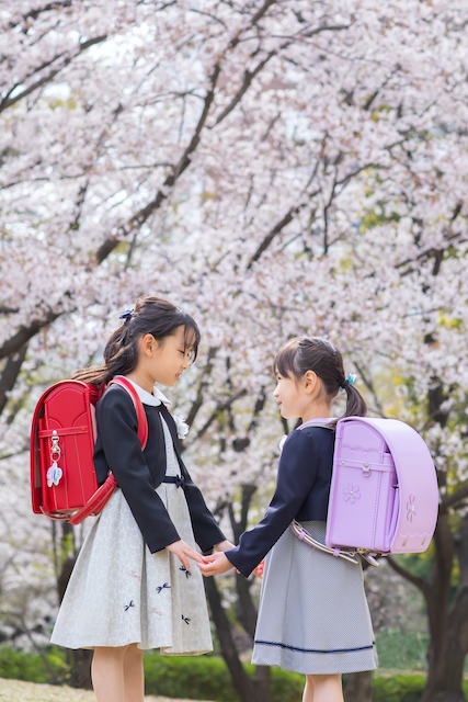 練馬区 光が丘 桜 小学生 入学撮影 出張撮影 女性カメラマン フレンズフォト
