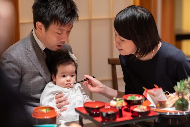 東京 中央区 水天宮 ロイヤルパークホテル お食い初め 出張撮影