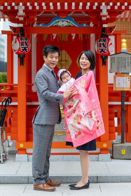 東京 中央区 お宮参り撮影 家族写真 こども 写真 出張撮影