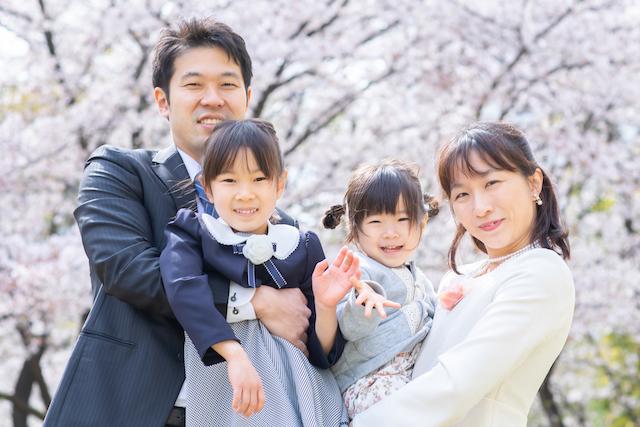 練馬区 光が丘 入学撮影 小学校 出張撮影 こども 桜 家族写真