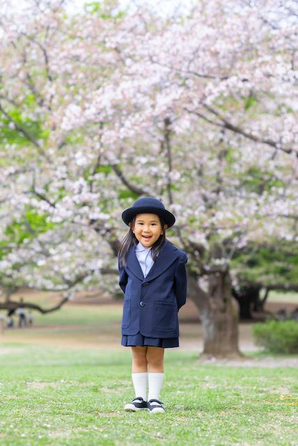 練馬区 光が丘公園 出張撮影 入園撮影 桜 子供 料金格安