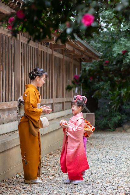 川越氷川神社 七五三 出張撮影 女性カメラマン