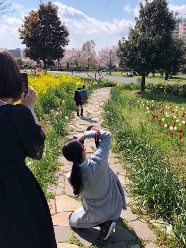 東京 江戸川区 大島小松川公園 入学撮影 出張撮影 家族写真