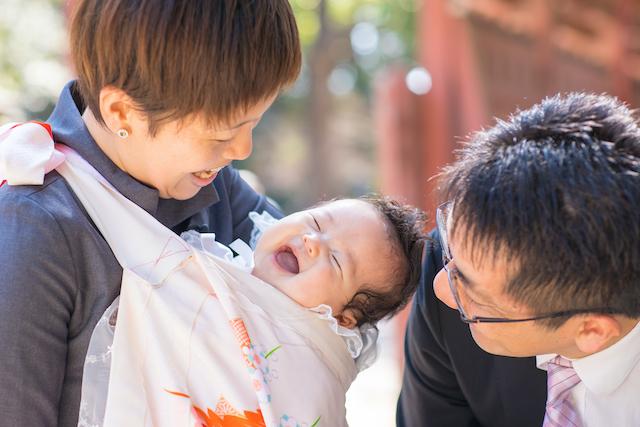 東京 出張撮影 お宮参り 家族撮影