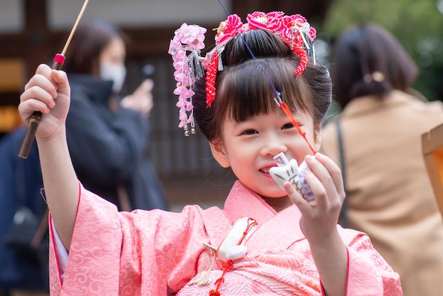 東京 練馬区 出張撮影 七五三 7歳女の子 神社 家族写真 記念写真 料金 安い
