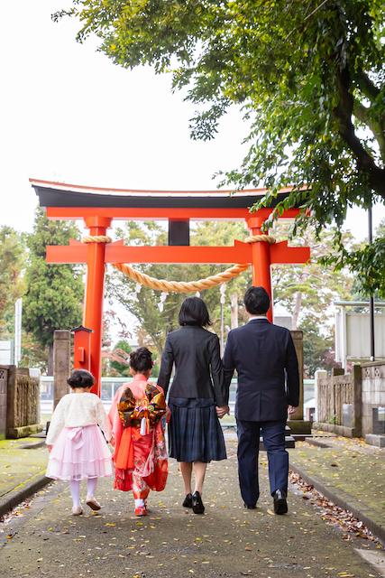 東京 練馬区 高松神社 七五三撮影 女性カメラマン