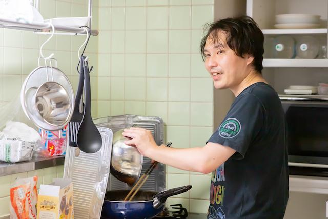 家族日記 出張撮影 東京 練馬区 光が丘 家族写真 プロフィール写真 料理男子
