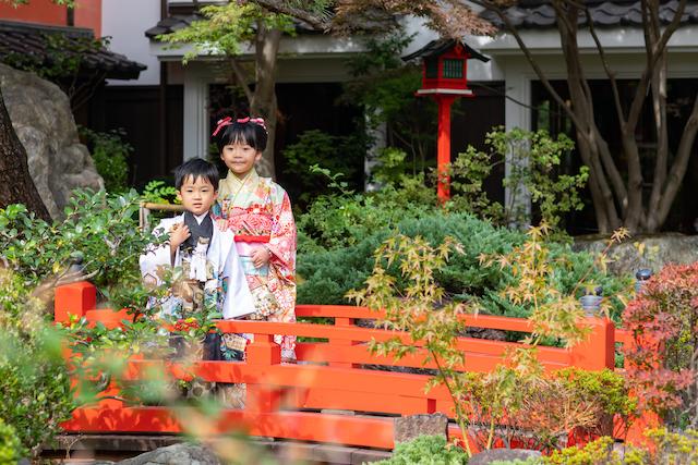 東京 港区 とうふ屋うかい 庭園 七五三 出張撮影