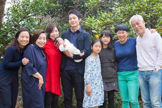 片瀬江ノ島、お宮参り撮影、家族撮影、集合写真