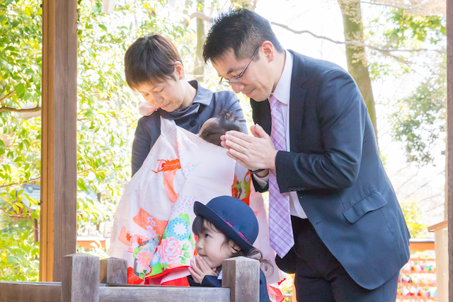 大宮氷川神社、入園写真、お宮参り、家族写真、埼玉県