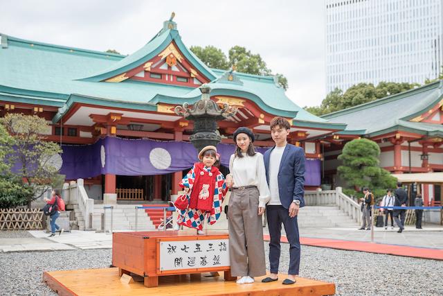 東京 千代田区 日枝神社 七五三 出張撮影 女性カメラマン 料金安い